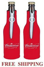 BUDWEISER KING OF BEERS 2 BEER BOTTLE SUIT COOLERS KOOZIE COOLIE HUGGIE BUD NEW