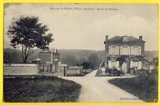 cpa Rare PONCHON (Oise) ancien Carrefour Route de Noailles Rue du PONT DELETTRE
