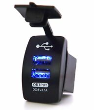 3.1A Motorcycle Car Waterproof 12-24V Dual USB Power Supply Charger Port Socket