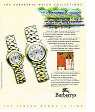 PUBLICITE  1991    BURBERRY'S of LONDON  collection montres