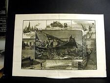 Yarmouth Herring Industry Fishing Denes Boats Fishermen 1883 Lg Folio Engraving