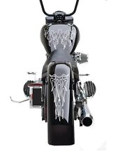 Motorcycle Ghost Flame Set Gas Tank & Fenders Decal Universal Fits Harley GFFS05