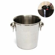 Stainless Steel Ice Container Barrel Bucket Beer Wine Champagne Holder 18 x 19cm