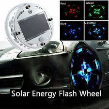 LED Car Auto Solar Energy Flash Wheel Tire Valve Caps Neon Light RGB For Toyota