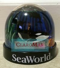 ☀ NEW Sea World SHAMU Killer Whale Refillable Snow Water Globe Souvenir Keepsake