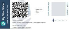 Ethereum Paper Wallet + 1 Ether Bonus (Cryptocurrency -  Similar to bitcoin) ETH