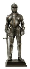 MEDIEVAL KNIGHT WARRIOR WITH FULL ARMOR HELMET SWORD FIGURINE STATUE MIDDLE AGE
