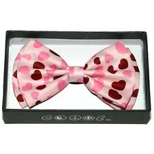 NEW MEN'S WOMEN'S TUXEDO PARTY BOW TIE ~ VALENTINE'S DAY PINK RED HEARTS #BOT-28