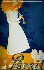Blechschild Persil Frau mit Hund Waschpulver Schild Nostalgieschild Waschen Deko
