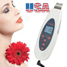 From USA Ultrasonic LCD Digital Facial Skin Scrubber Peeling Cleaners Firm Tool