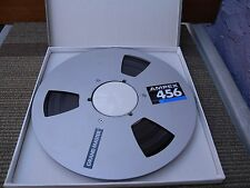 "Ampex 456 grand master 10.5"" 1/4"" aluminum take up reel & tape with original box"