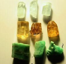 acquamarina+topazio+smeraldo 18 ct