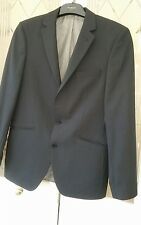 "Mens black single breasted Pinstripe suit Jacket, Paul Kehl, 42"" Chest VGC"