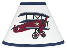 Sweet Jojo Designs Lamp Shade for Vintage Aviator Baby Kid Airplane Bedding Set