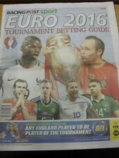 02/06/2016 EURO 2016: Racing post sport-Tournoi de Paris Guide, full Newspap