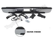 99-07 SILVERADO SIERRA 1500 2500 FLEETSIDE REAR BUMPER SILVER ASSY W/BRACKET PAD