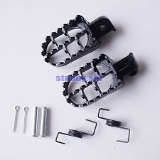 Black Honda Aluminium Foot Pegs Pit Dirt Bike KLX TTR CRF50 XR PW50 TW200 PW80