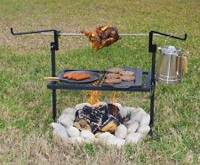 Campfire Grill BBQ Rotisserie Cooker Rack Spit Camping Gear Outdoor Chicken NEW