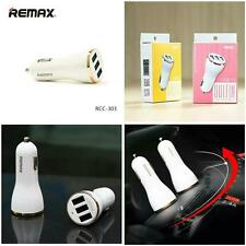 GOLD COLOUR Genuine Remax DOLFIN 3 USB Port Car Charger 3.4A High Speed