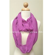Women's Infinite Soft Shawl Scarf Plain Solid Color Infinity Scarf Wrap Stole