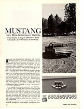1964 FORD MUSTANG 289/271 HP  ~  ORIGINAL 4-PAGE ROAD TEST / ARTICLE / AD