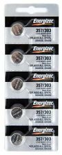 Energizer 357 303 (SR44SW) Silver Oxide Watch Batteries (1 pack of 5)