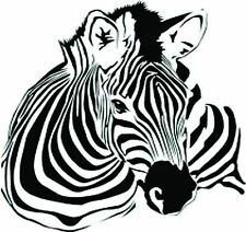 Zebra Laying Down  vinyl wall decal