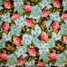 HALF YARD Henry Glass LOVE IN BLOOM Hearts Roses PATCH FLORAL Fabric 1/2 YD