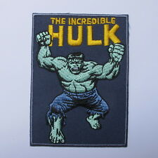 THE INCREDIBLE HULK COMIC SUPER HERO MARVEL EMBROIDERED IRON ON PATCH T-SHIRT