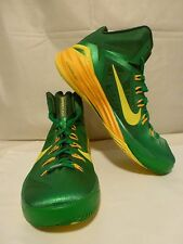 Nike Lunarlon Hyperdunk 2014 Green Yellow 653640-373 Men's Basketball Shoes Sz 9