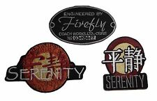 Firefly Serenity Movie (Set of 3) Embroidered Logo PATCHES