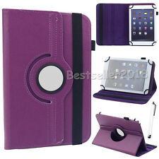 """For Various 7"""" 8"""" 10"""" Tablets 360° Rotating Universal Leather Case Cover Gift"""