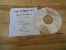 CD Indie Peter Matthew Bauer - You Are The Chapel (1 Song) Promo MEMPHIS INDUSTR