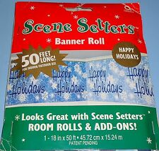 Christmas - Happy Holidays Scene Setter Banner Roll