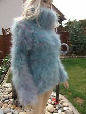 Traummohair p1b Fluffy longhair mohair suéter Sweater Jumper Cowl Neck New s