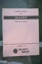 Galanti Group Wizard Electronic Organ Schematic Diagram