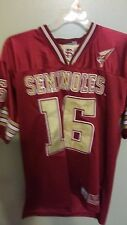 COLOSSEUM FLORIDA STATE SEMINOLES STITCHED FOOTBALL JERSEY SIZE MED ADULT