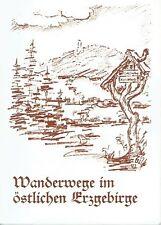 Wanderwege im östlichen Erzgebirge Landkreis Dippoldiswalde 1992 Sachsen Wandern