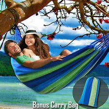 Large Cotton Canvas Fabric Hammock Air Chair Hanging Swinging Camping Outdoor Bl