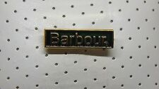 3 x Enamel Barbour Badge / Badges Embossed Name Logo - Safety Pin Fixing