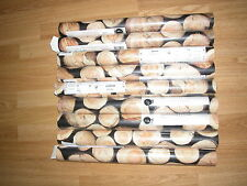 NEXT WALLPAPER LOG PILE WOOD PRINT BLACK RUSTIC Wall Paper ROLL