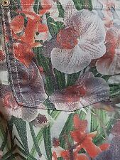 7 Seven for All Mankind 28 Crop Skinny jean Floral Ecru Tropical Paradise $189