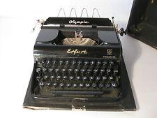 alte Schreibmaschine OLYMPIA Erfurt Progress mit Koffer wohl 1930er Jahre