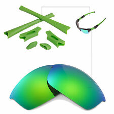 WL Polarized Emerald Replacement Lenses And Rubber Kit For Oakley Flak Jacket