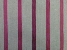 1.45m Laura Ashley 'Luxford Stripe' in Cranberry Upholstery Fabric