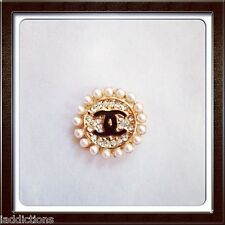 Crystal Pearl  Home Button Key Sticker for iPhone 3 4 4S 5 5C iPad Diamond Bling