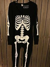 Victoria's Secret PINK skeleton onesie longjane thermal pajamas sz s small new