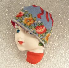 LADY HEAD woman FACE Porcelain-Look Resin Brooch Pin Floral hat Spring Handmade