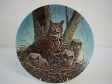 BRADEX KNOWLES CLASS THE STATELY OWLS SERIES THE GREAT HORNED OWL PLATE
