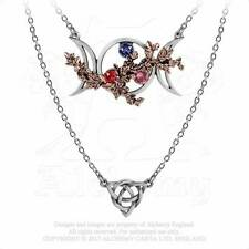 Alchemy England 'Wiccan Goddess of Love' layered pewter Gothic necklace [P785]